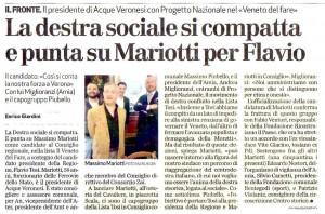 Presentazione candidatura Mariotti_articolo domenica-L'Arena